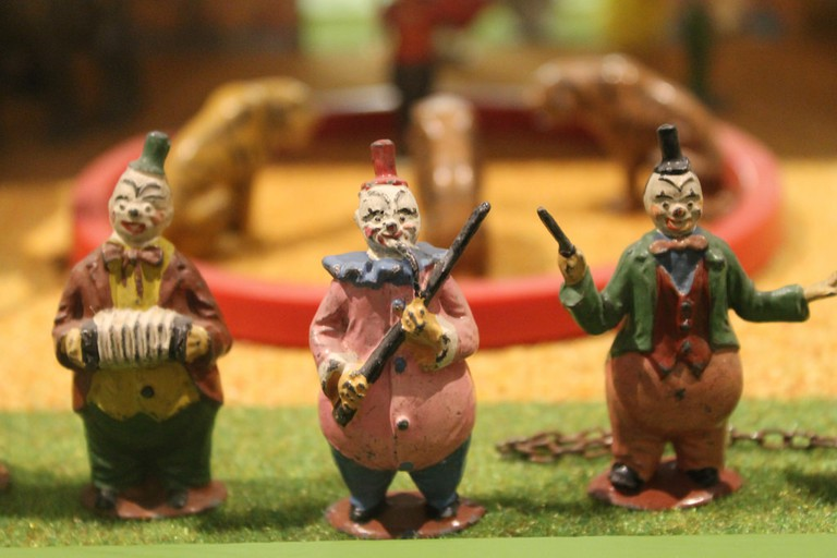 Sinister clowns at Brighton Toy and Model Museum