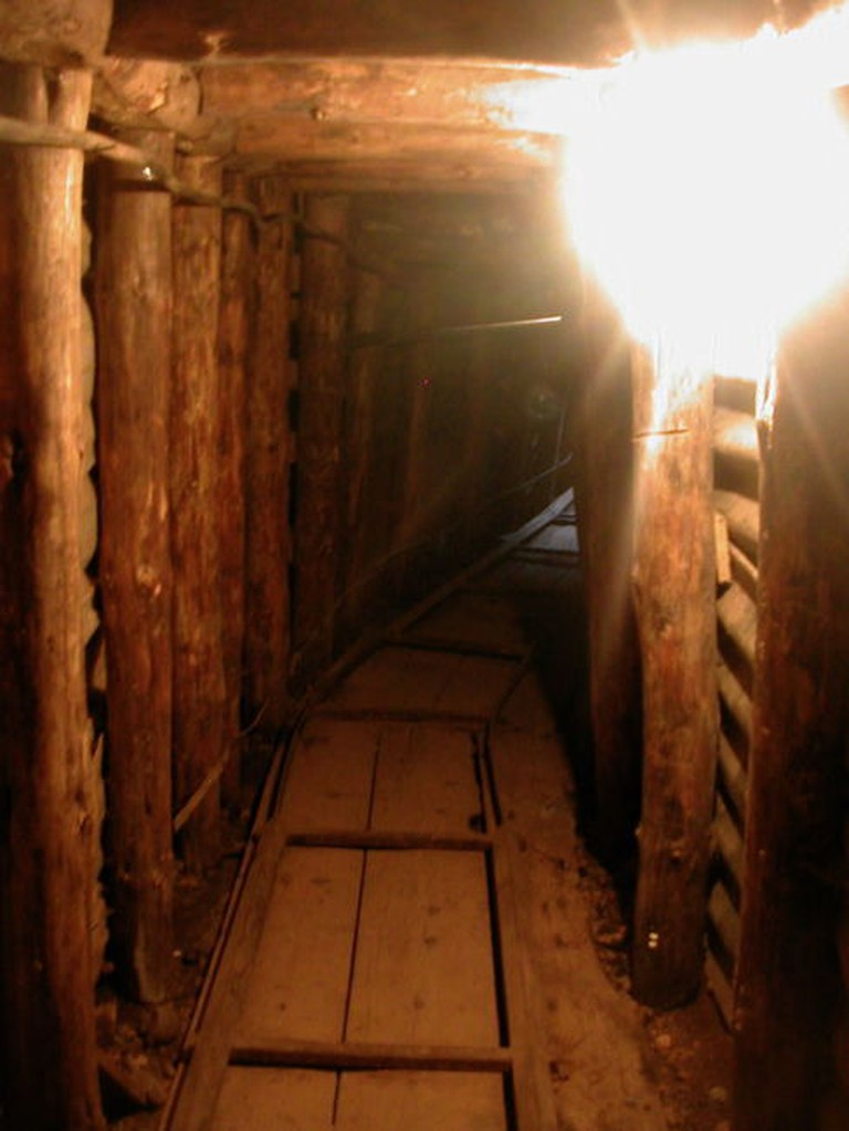 Inside the tiny reconstructed tunnel
