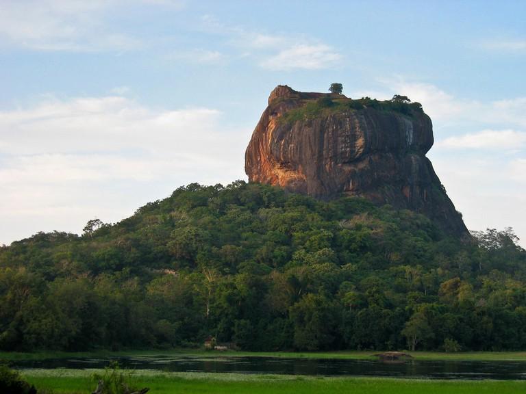 The natural rock outcrop of Sigiriya
