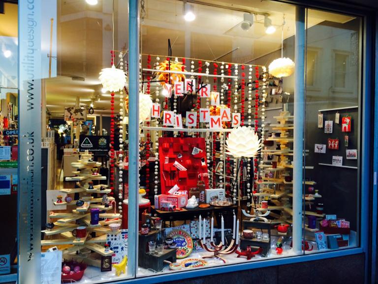 Shop window at Christmas