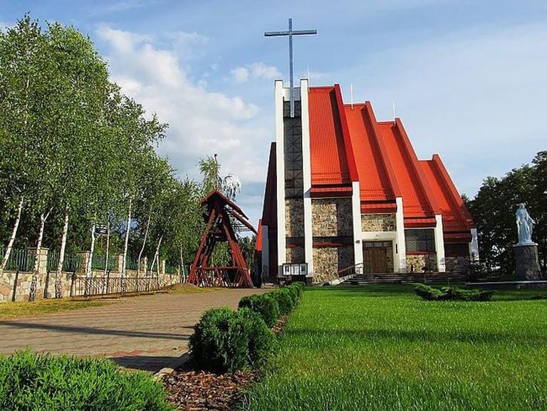Our Lady of Częstochowa church in Czarna Woda, Poland