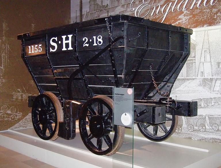 1829 coal car in Nuremberg Transport Museum