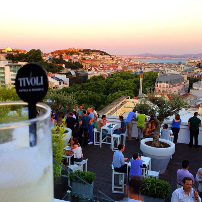 At the Sky Bar, your drink comes with an amazing view.