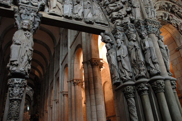 Door of Catedral de Santiago de Compostela