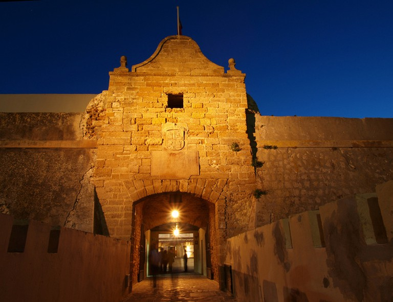 The entrance to Cádiz's Santa Catalina castle