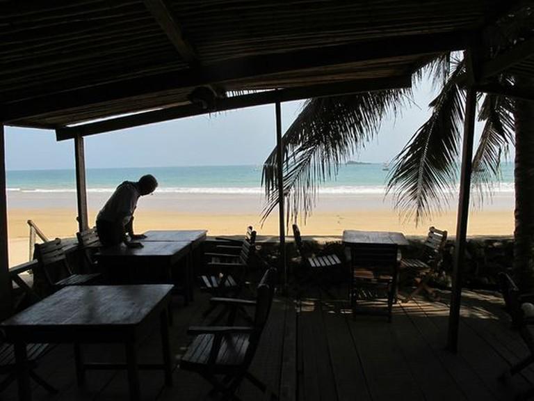 Breakfast porch at Busua Inn