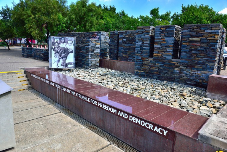 The Hector Pieterson Memorial was erected on Khumalo Road in Soweto, not far from where Pieterson was shot