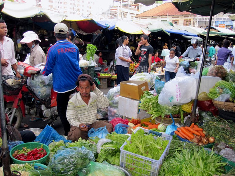 Buy ingredients at a local market