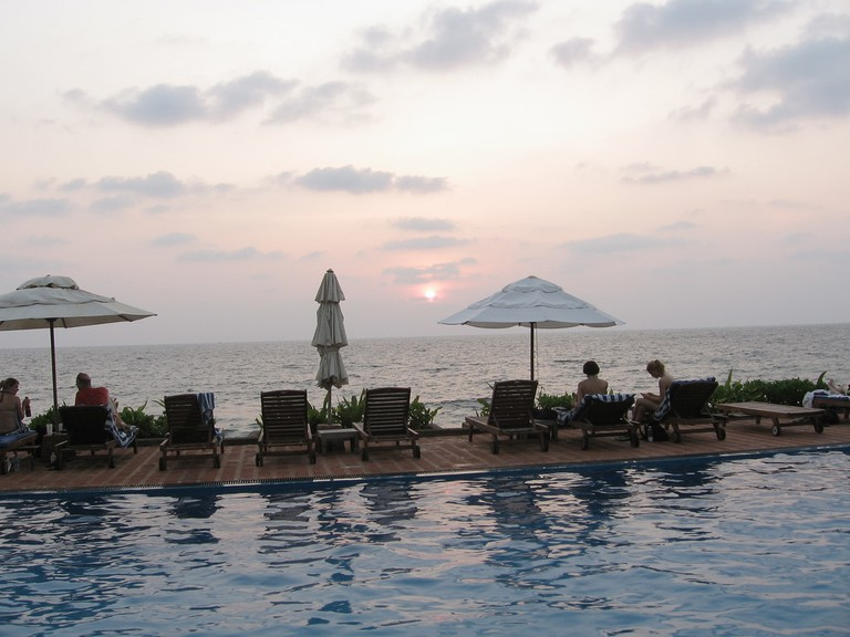 The pool at the Galle Face Hotel