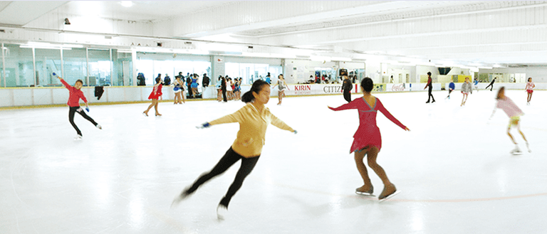 Practice your moves at Citizen Plaza's ice skating rink