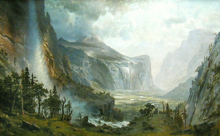 The Domes of Yosemite byAlbert Bierstadt