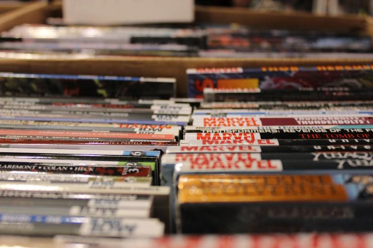 A range of vintage comics