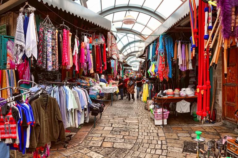 The Arab market in Akko's Old City