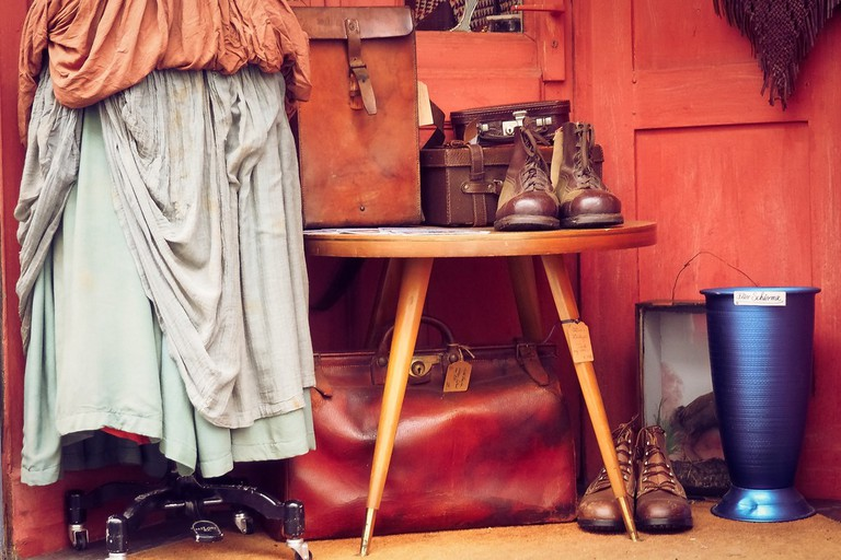 A selection of vintage clothes