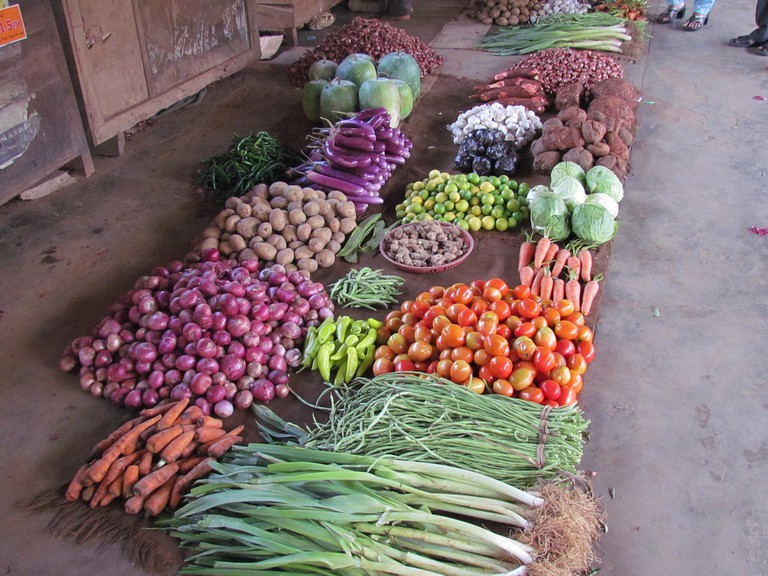 Jaffna market veggies for sale