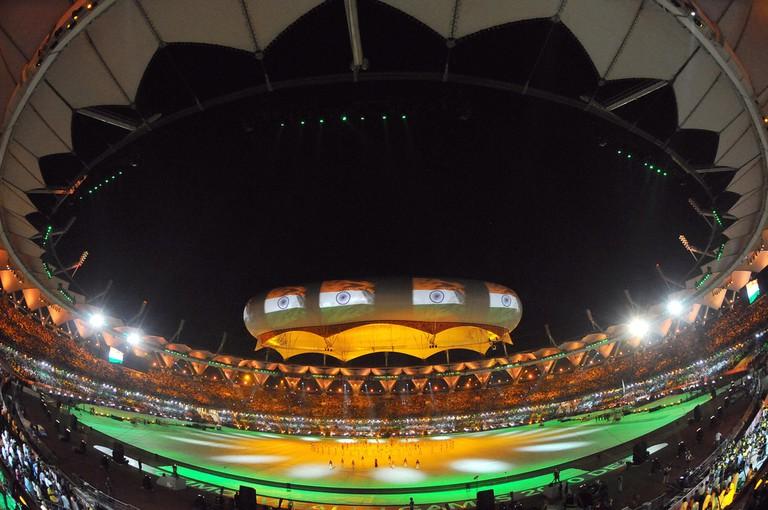 Closing ceremony of the XIX Commonwealth Games 2010 at Jawaharlal Nehru Stadium, New Delhi
