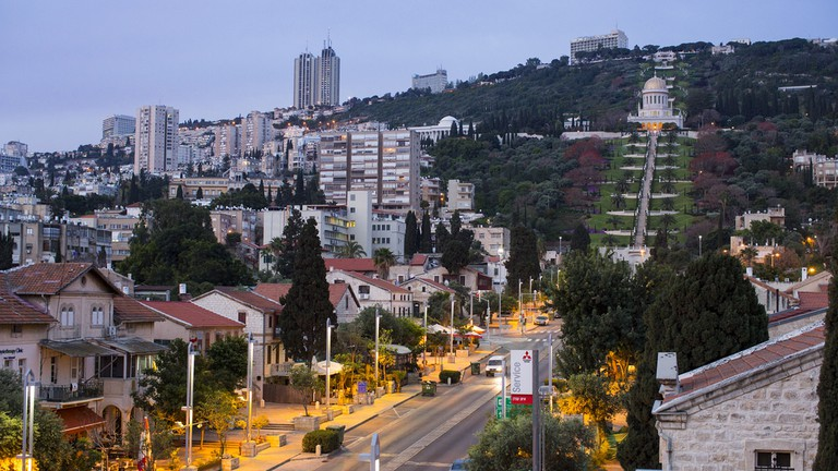The German Colony and Bahai Gardens, Haifa, Israel