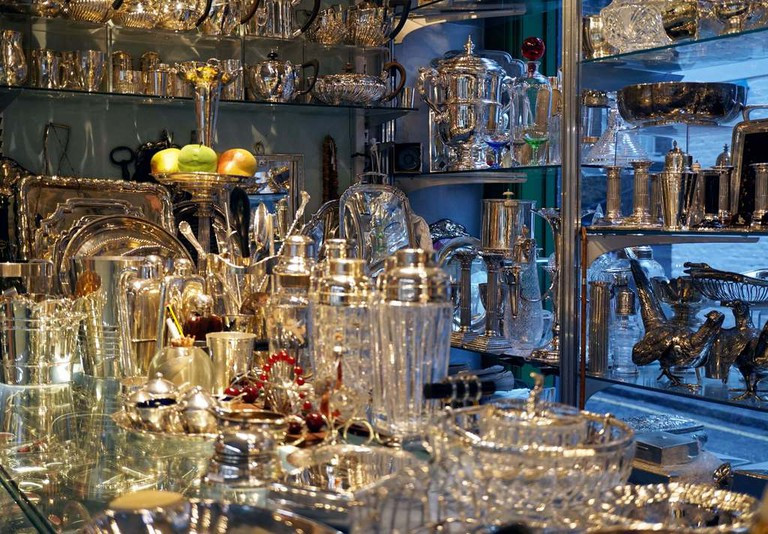 Jack Podlewski's silverware at Grays