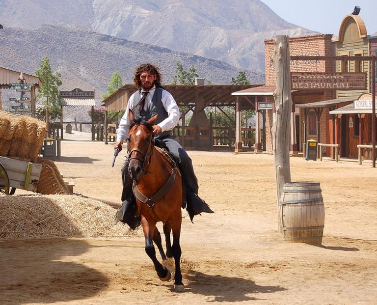 A cowboy in Almería's Wild West
