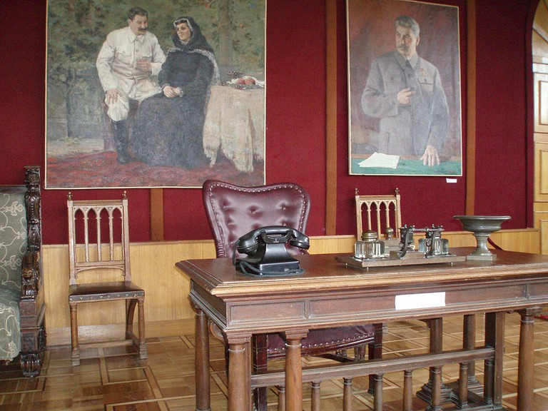 Stalin's desk at the museum