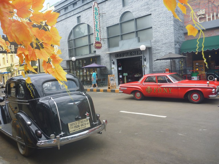 Gangster Town in Museum Angkut, Malang