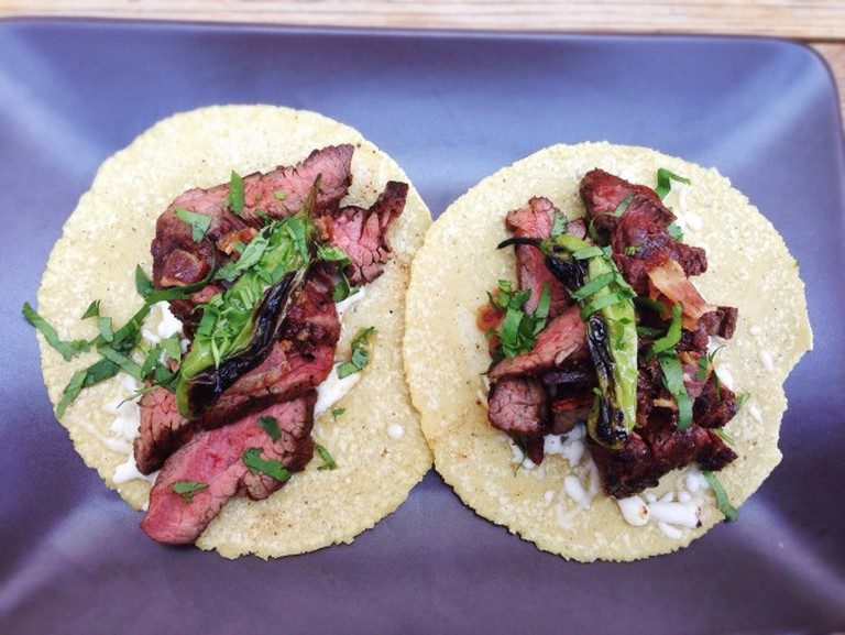 Hanger Steak Tacos