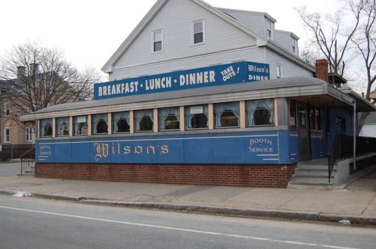 Exterior of Wilson's Diner