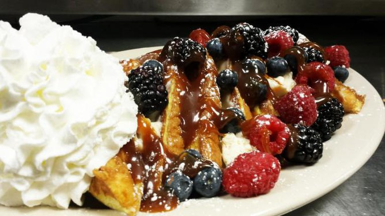Mixed Berry Cream Cheese Stuffed French Toast