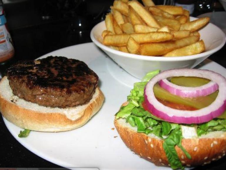 The Norma Jean hamburger at Black Bar n Burger