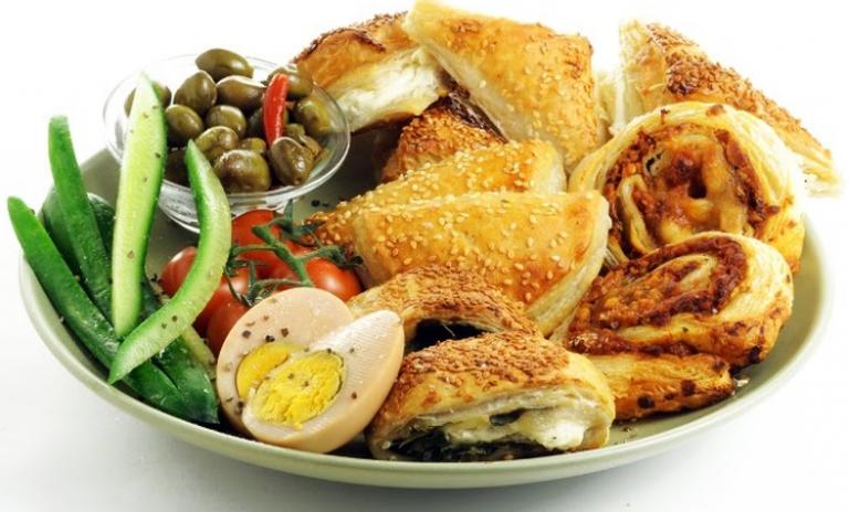 A bourekas meal from Aroshatas bakery