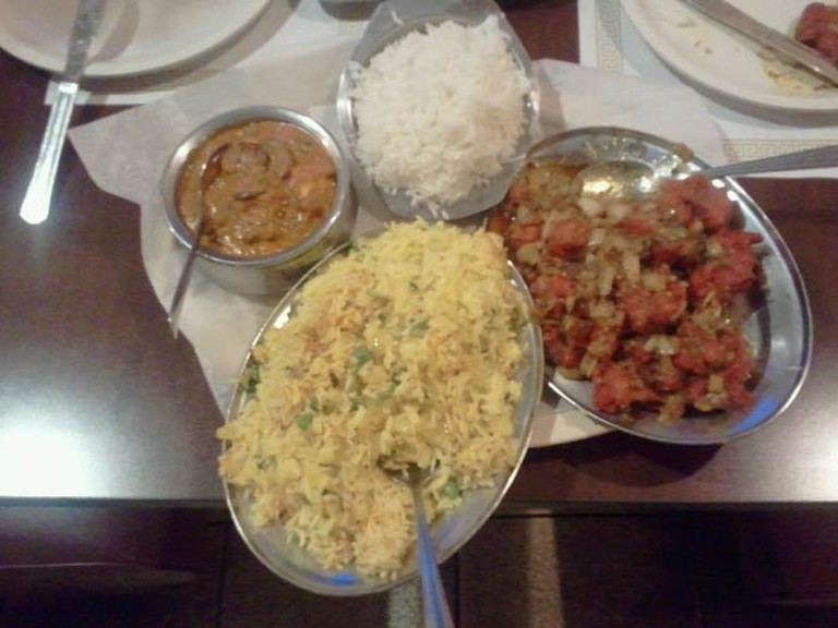 Indo-Chinese dish at Udipi Café