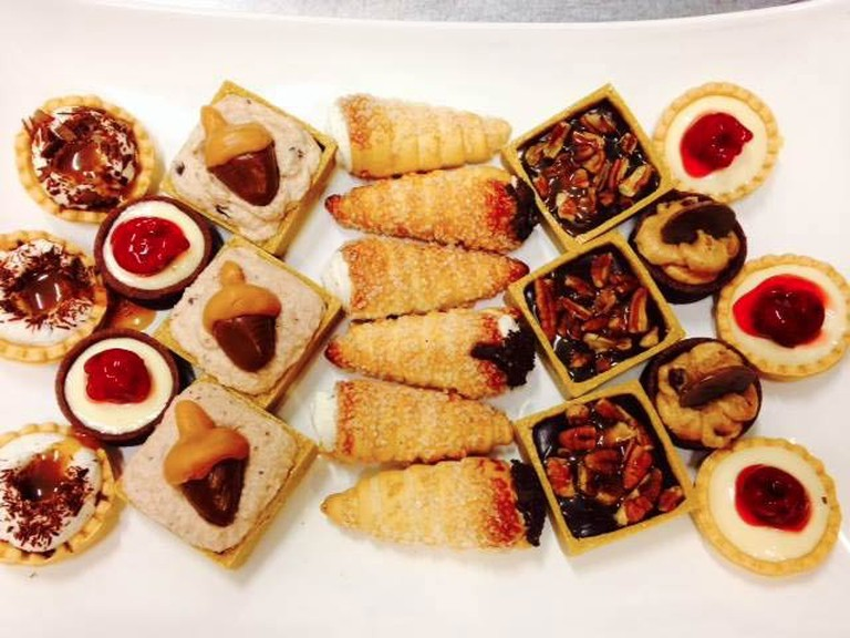 A selection of mini desserts from Wildflour Artisanal Bakery and Cafe
