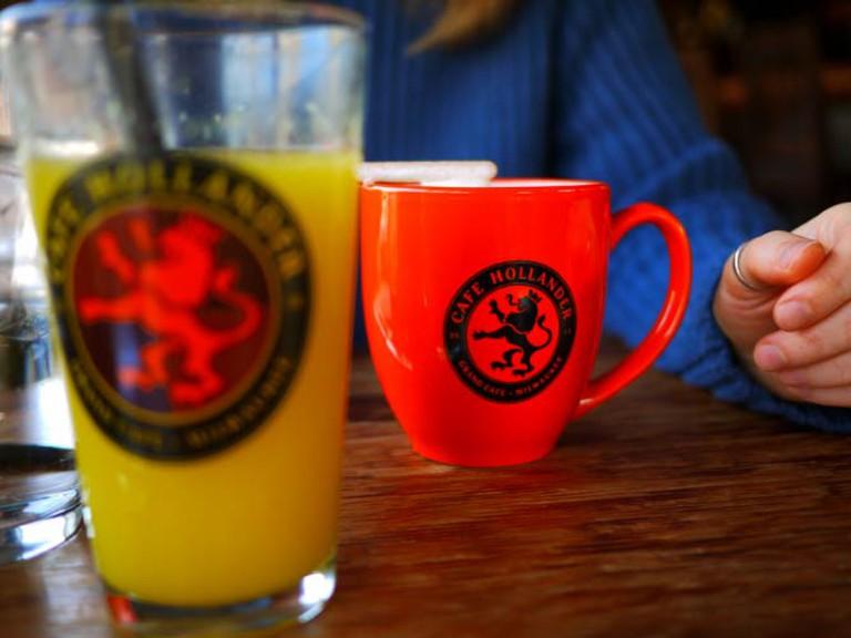 Drinks at Café Hollander