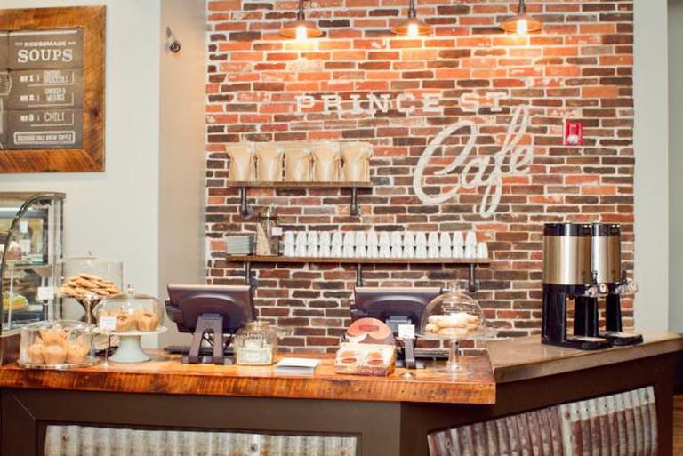 Inside Prince Street Café