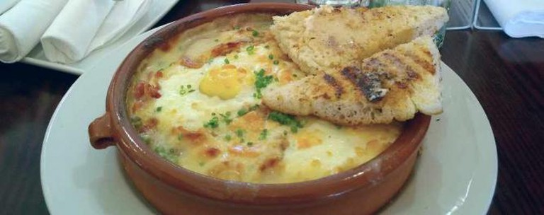 Baked eggs at Brambles Bistro
