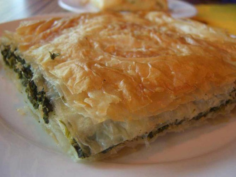 Spanakopita's layers of spinach and flaky goodness