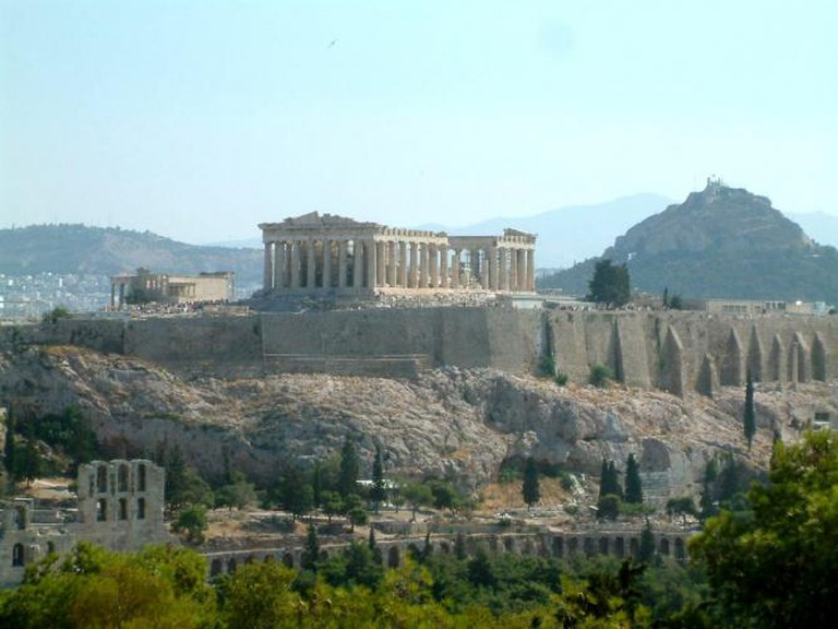 The Acropolis. View from Filopapou Hill.