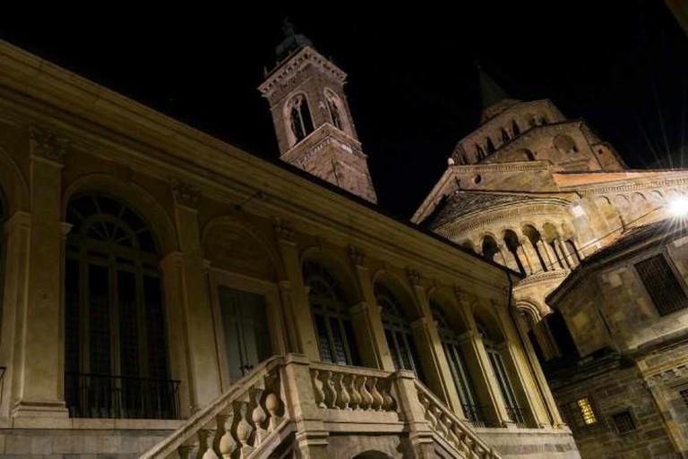 The Cathedral and Battistero in Bergamo