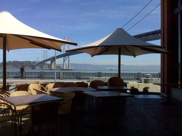 Waterbar's heated patio is perfect for people watching
