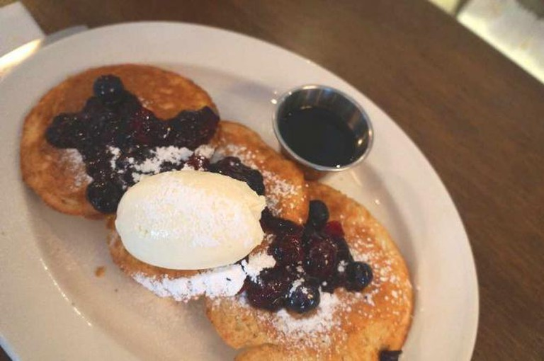 Buttermilk pancakes at Riding House Cafe