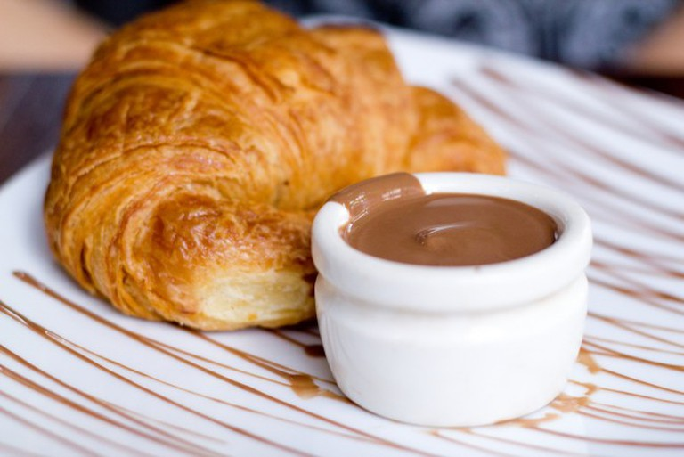 Croissant and chocolate from Max Brenner
