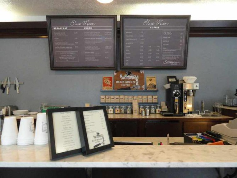Counter at Blue Moon Coffee
