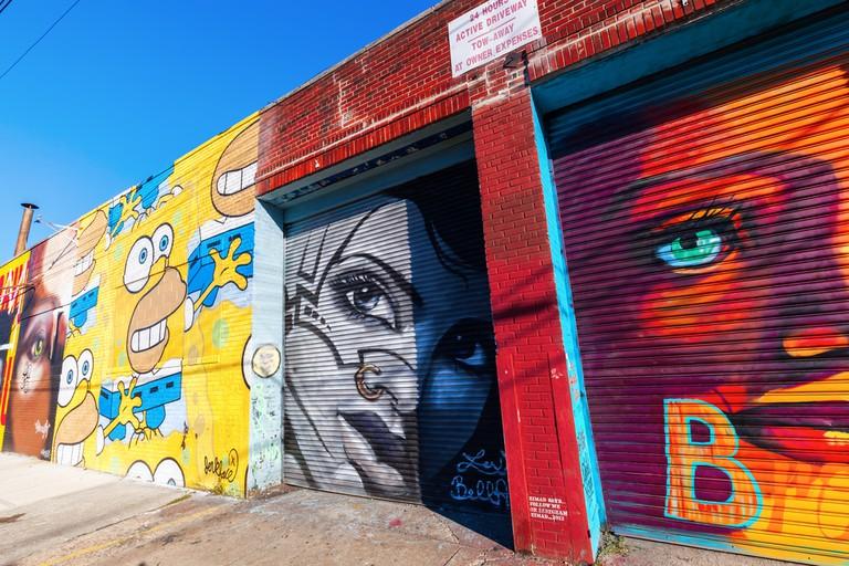 Mural art in Bushwick, Brooklyn