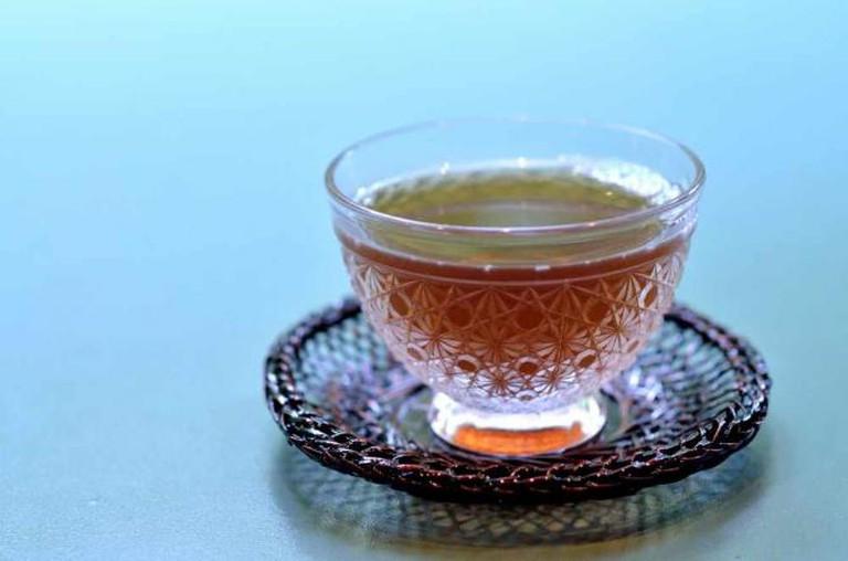 Delicate Japanese tea