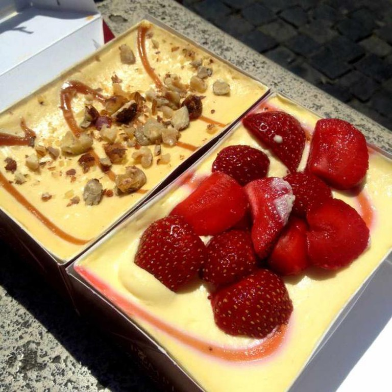 Strawberry tiramisu and hazelnut tiramisu from Bar Pompi