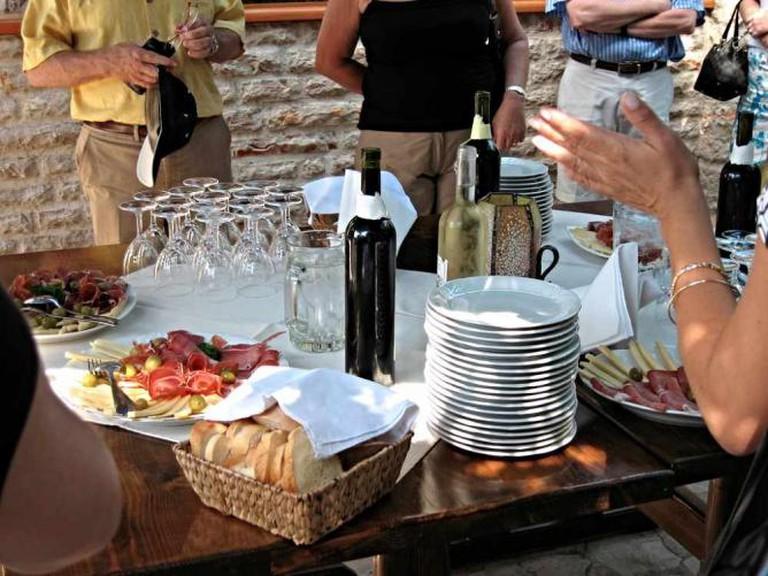 Enjoy wine tasting at Bacchus Vinoteka.