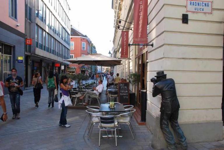 Outside of Paparazzi restaurant