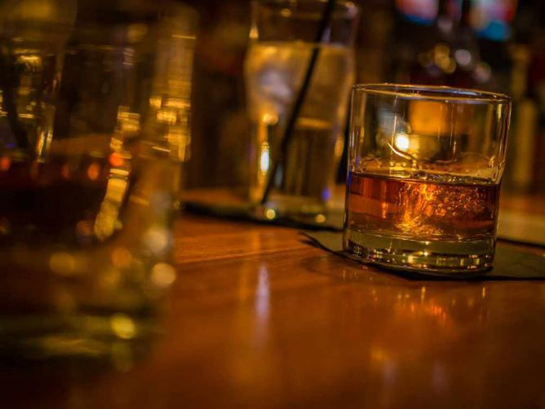 A Glass of Bourbon Whiskey
