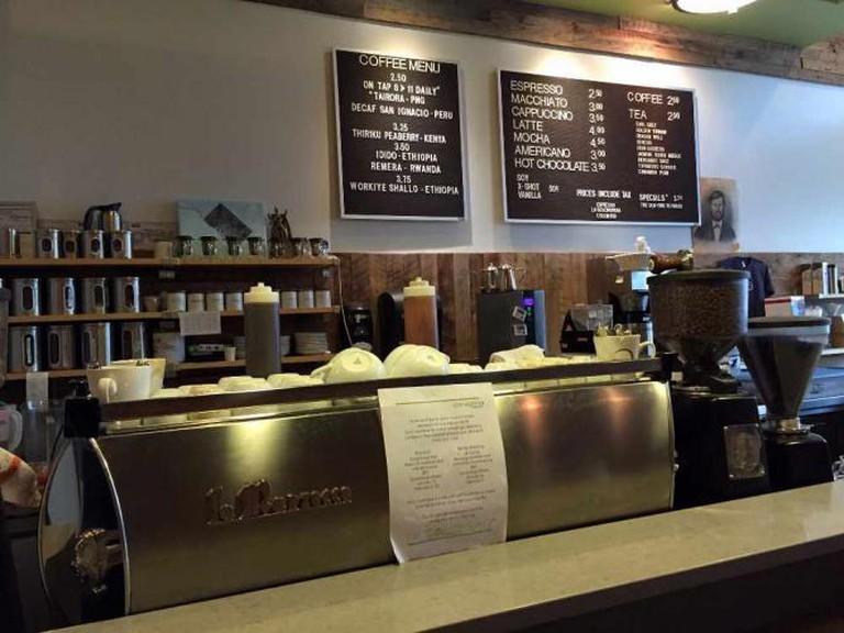 Top pourover from Peregrine Espresso