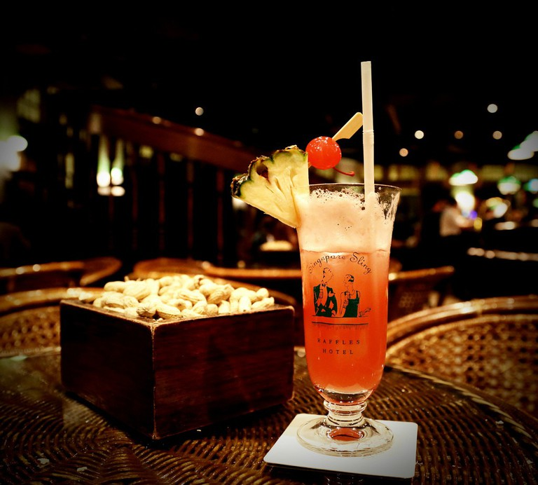 Singapore sling is a signature cocktail of this amazing place